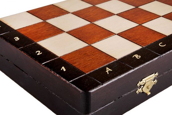 wooden magnetic chess large