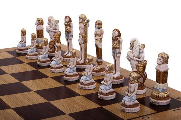 wooden egypt chess set
