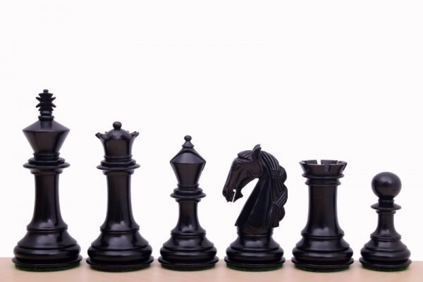 Schachfiguren Kolumbianisch 9.6 cm ebonisiert