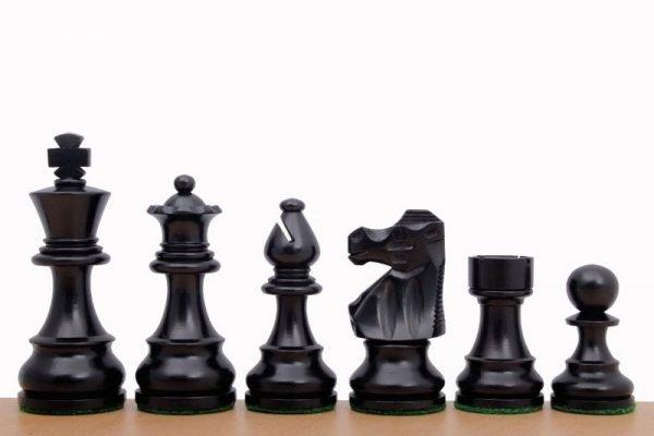 ebonised chessmen