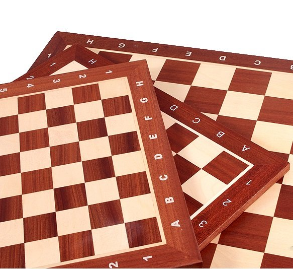 maple and mahogany chessboard
