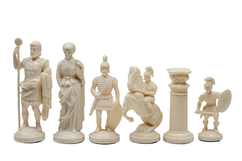 roman chess pieces white