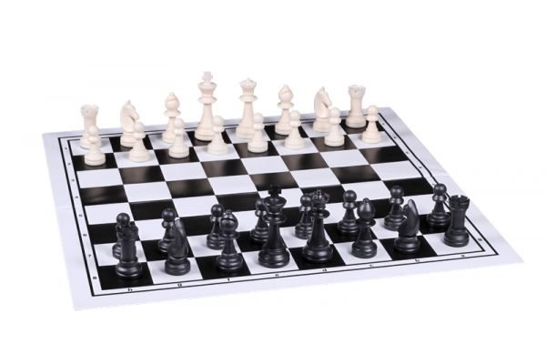 plastic chess pieces