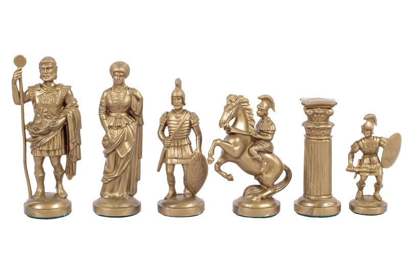 chess pieces gold