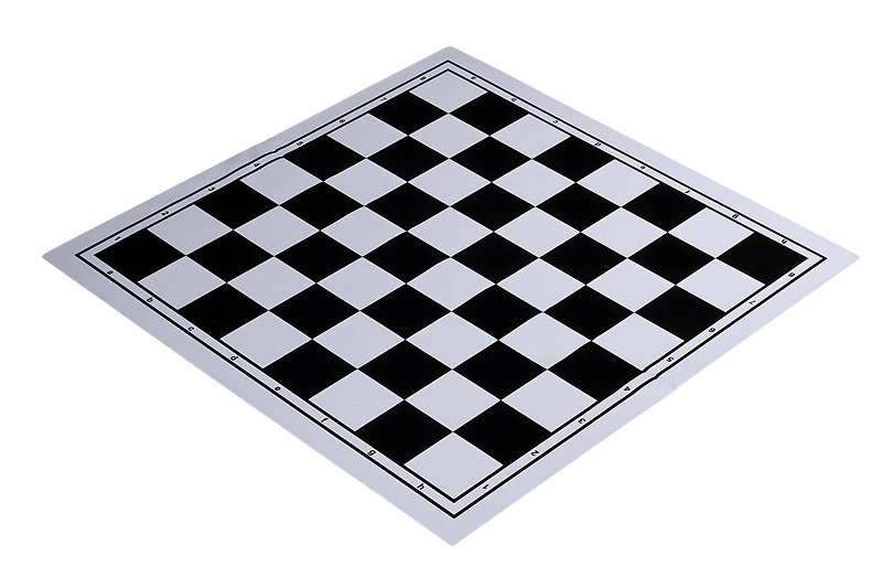 black chessboard plastic