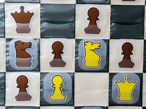 slotted demonstration chess board