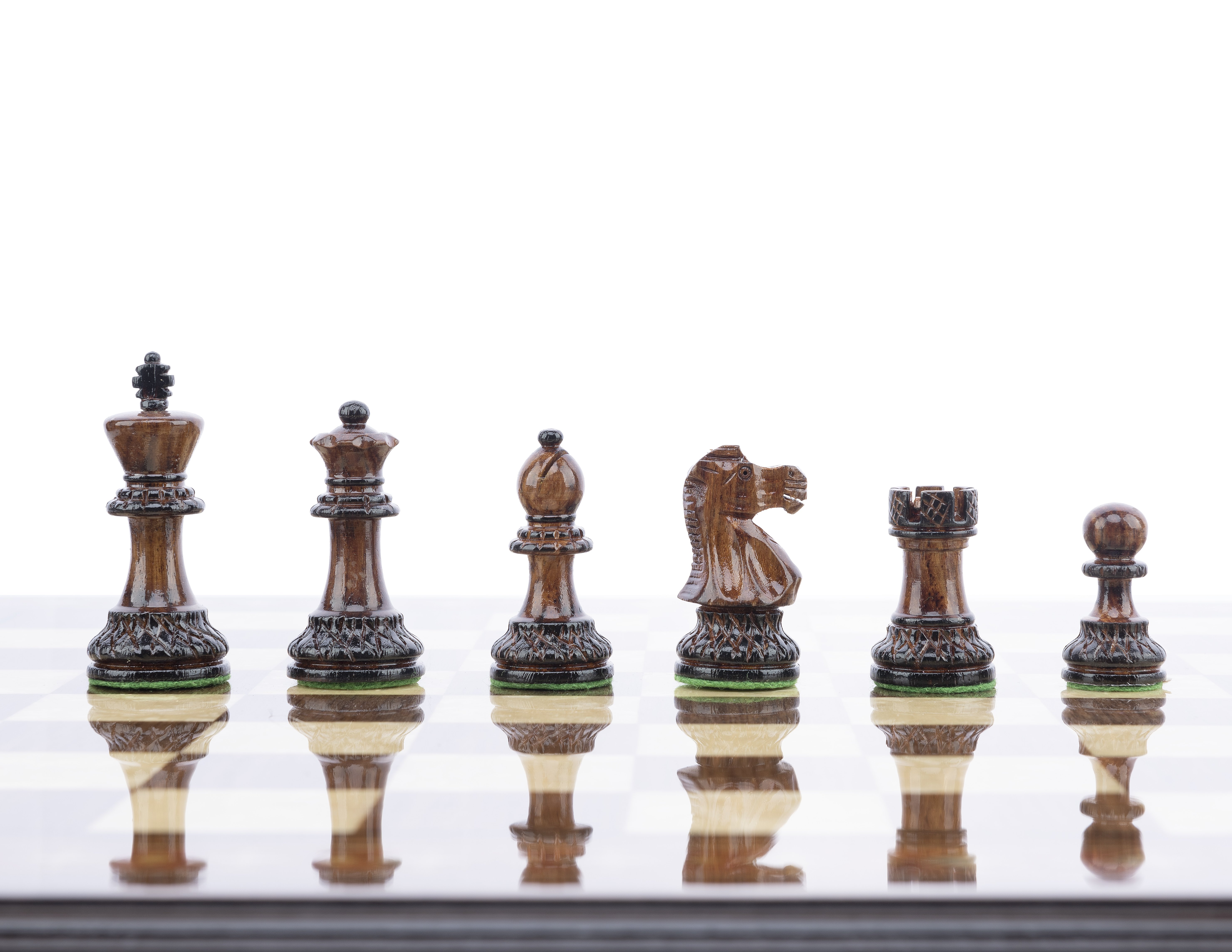 burnt chess pieces royal