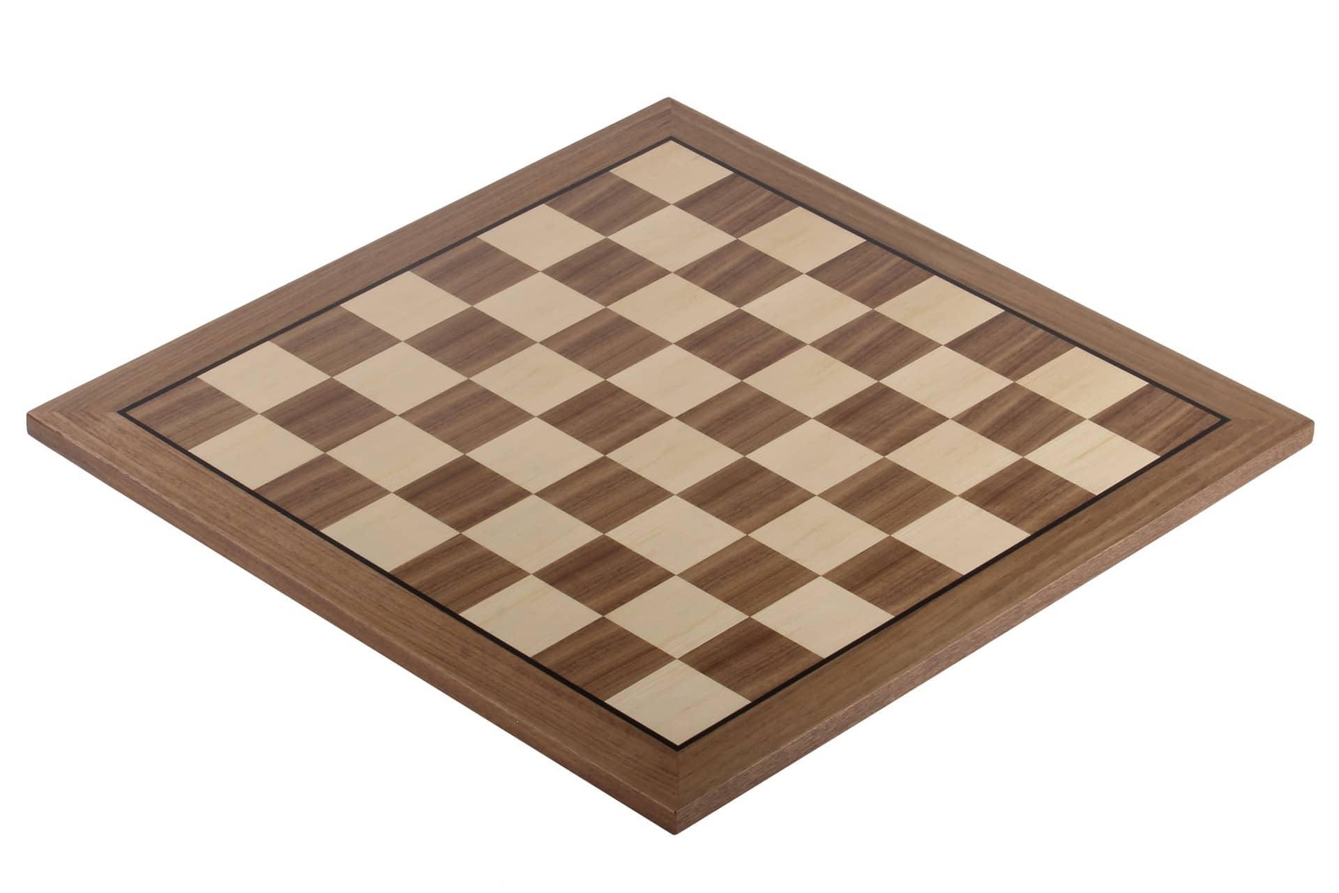 walnut chessboard with black stripe