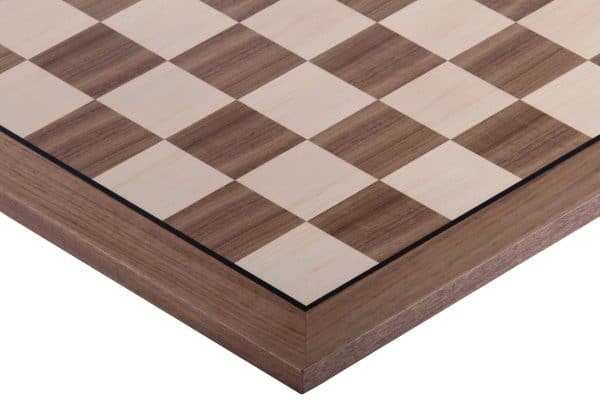 chess board with black stripe