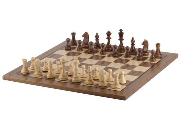 walnut chess board with stripe