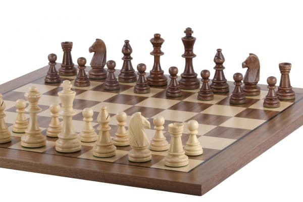 chess board with black stripe walnut