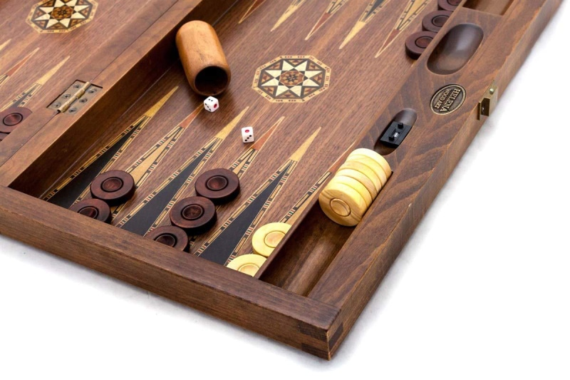 backgammon walnut