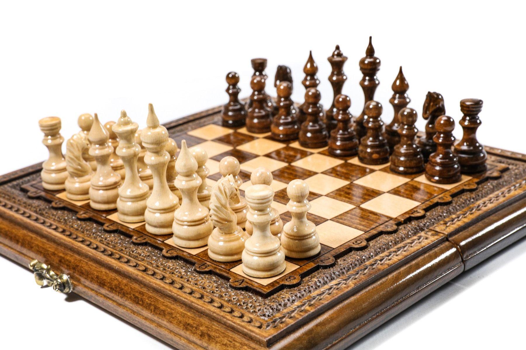 chess set beech wood