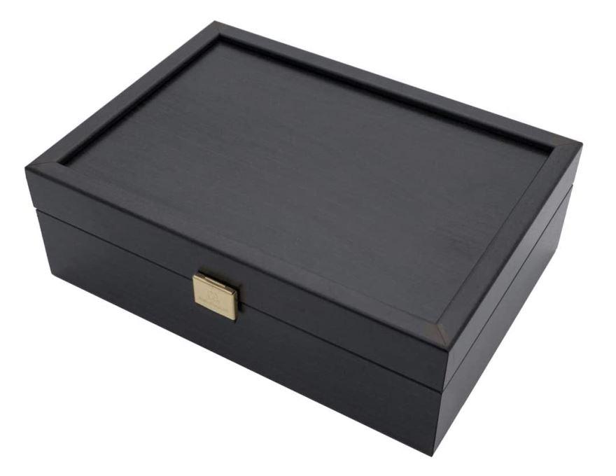 Wooden Chessmen Case Black