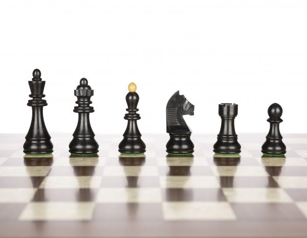Dubrovnik Black Chess Pieces
