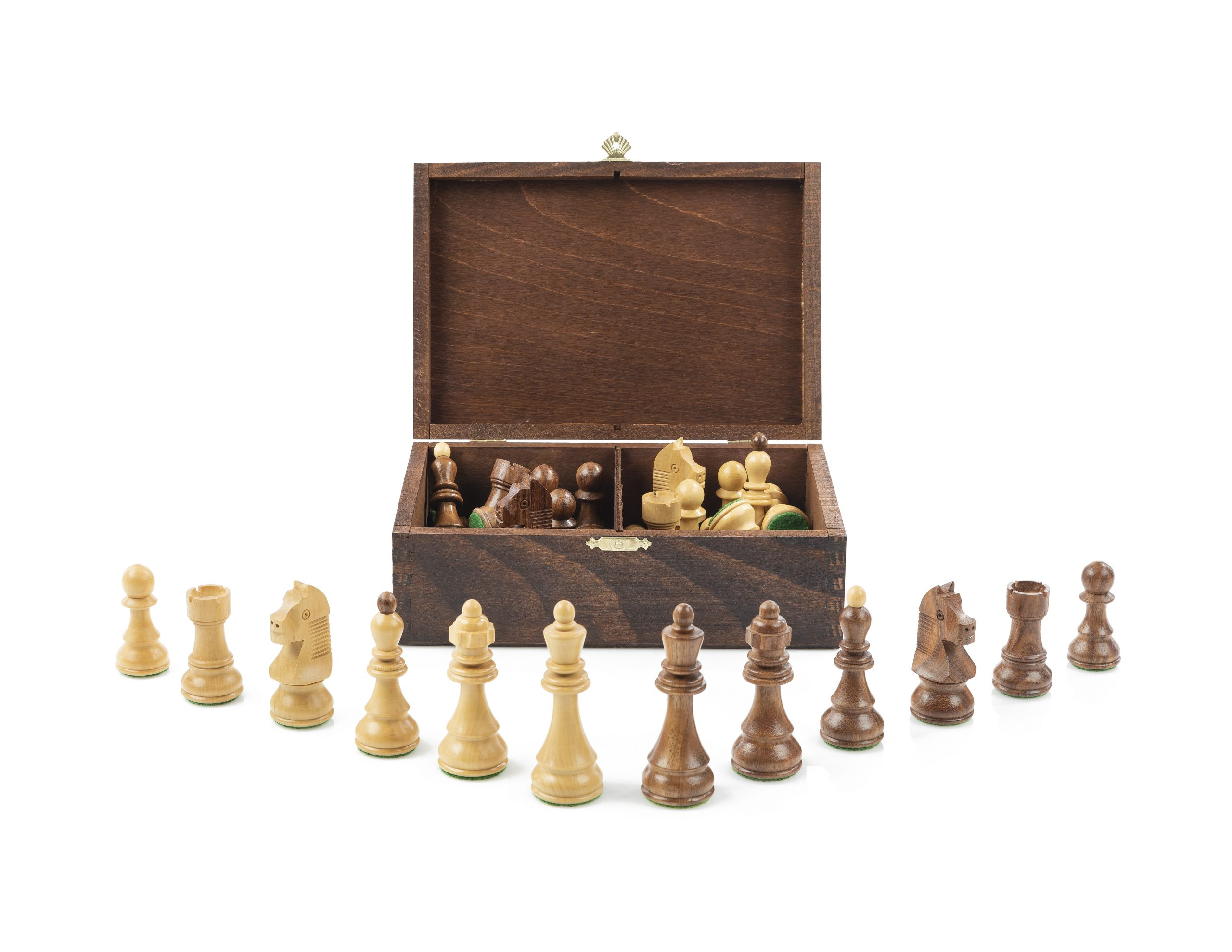 Wooden Box Chess Pieces